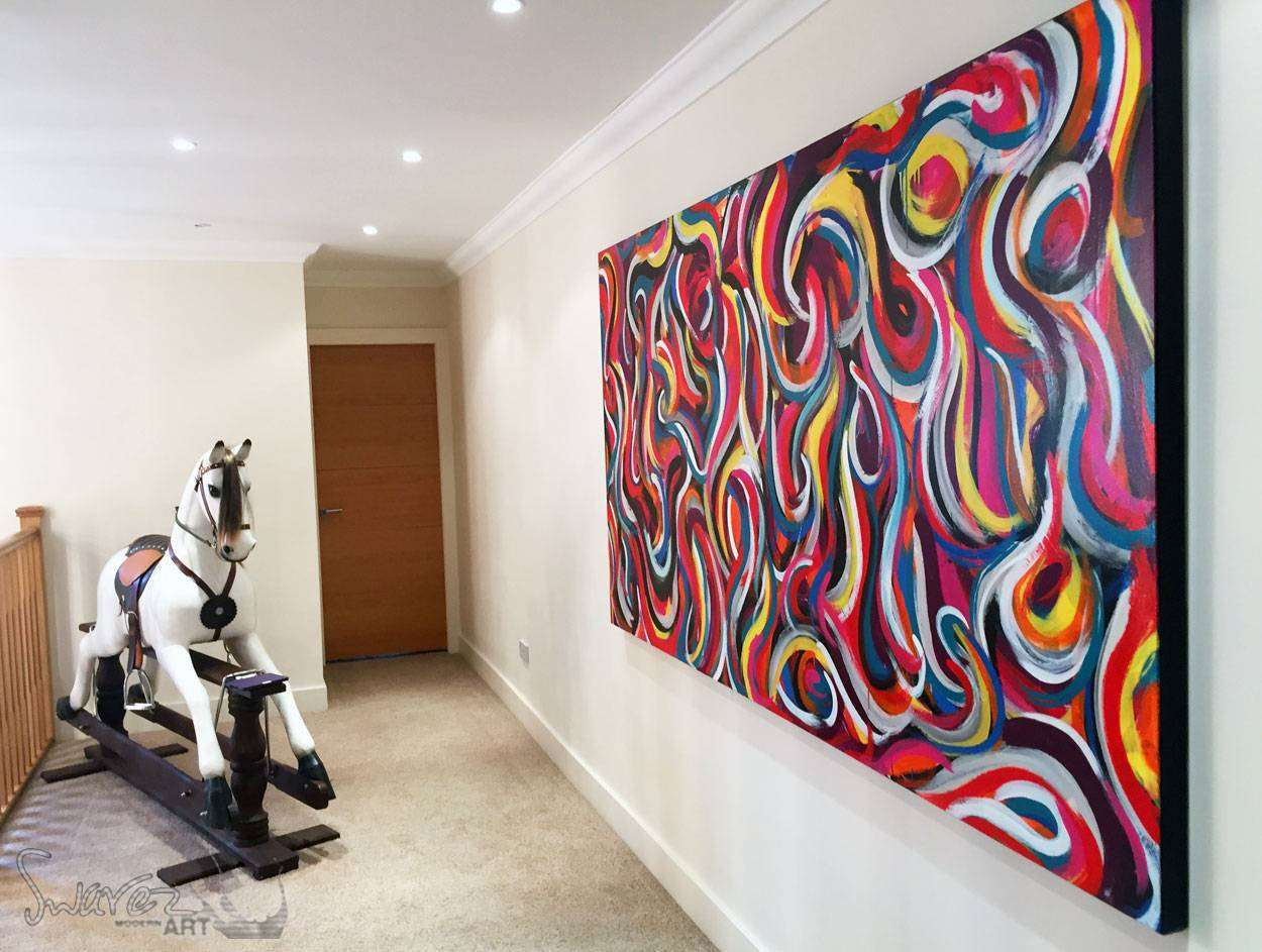 Large modern art for sale and big abstract paintings by swarez large painting hanging by a rocking horse amipublicfo Gallery