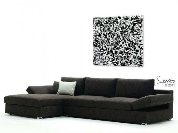 White and black original art