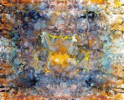 modern art painting in enamel paints