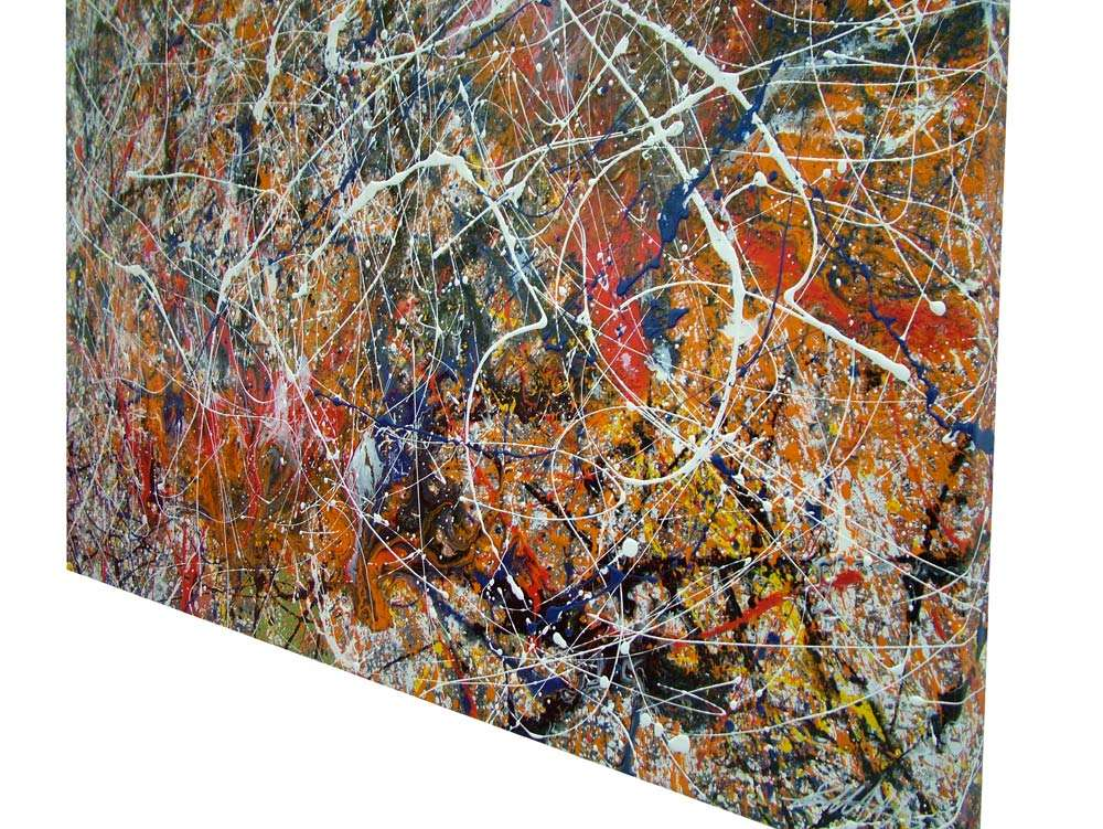 Drip Painting Big Bang Theory Pollock Style Art By Swarez