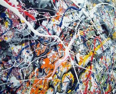 Drip Painting, Jackson Pollock inspired