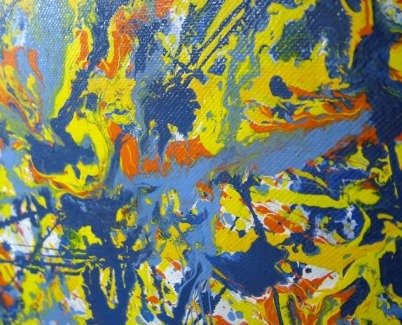 Jackson Pollock drip art