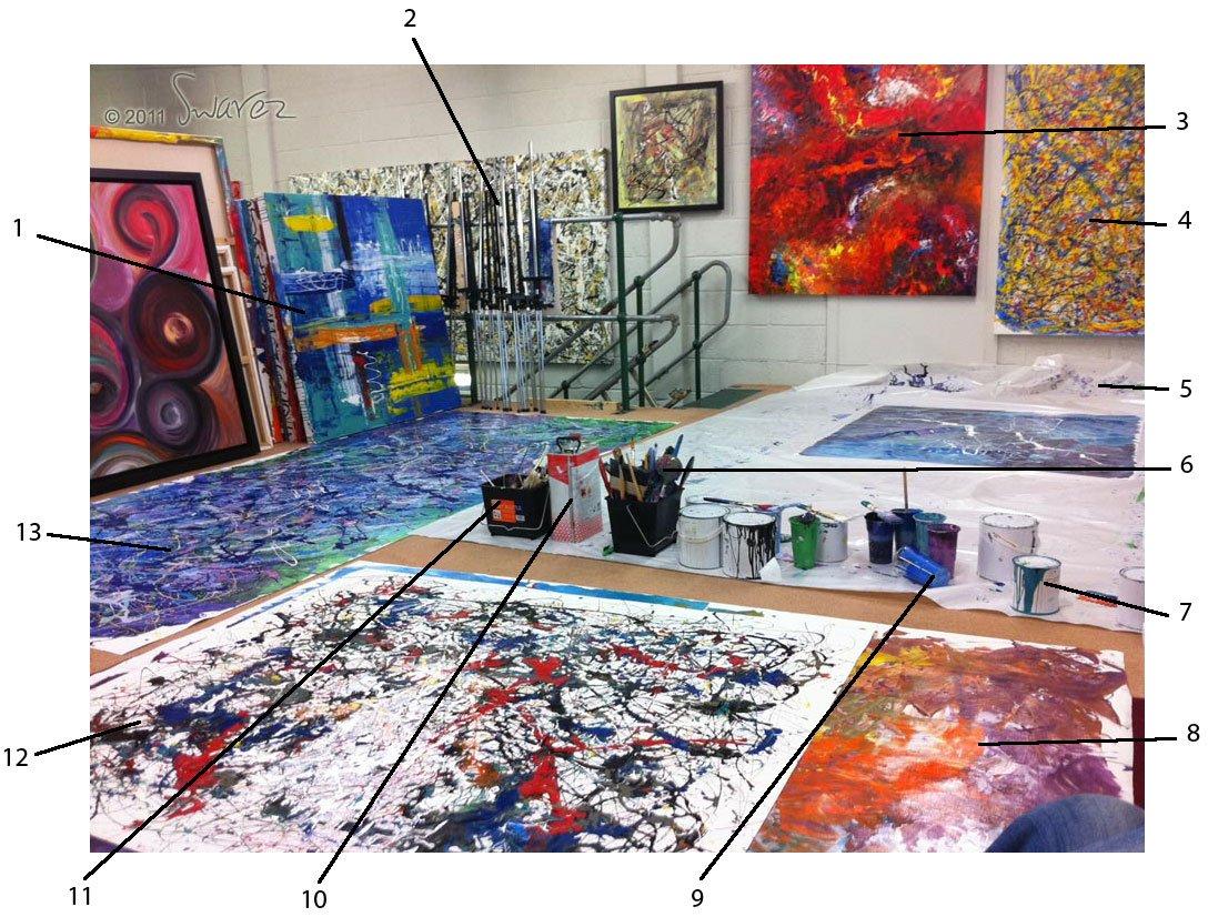 Inside the art studio of Swarez