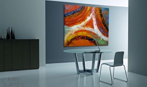 Canvas painting red and orange