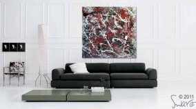Red and Silver Painting by Swarez