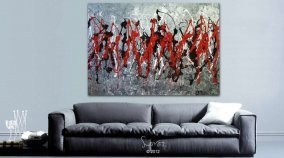 Red and black painting