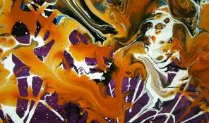 Orange Abstract Art Painting