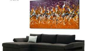 Large Original Art painting like Fire