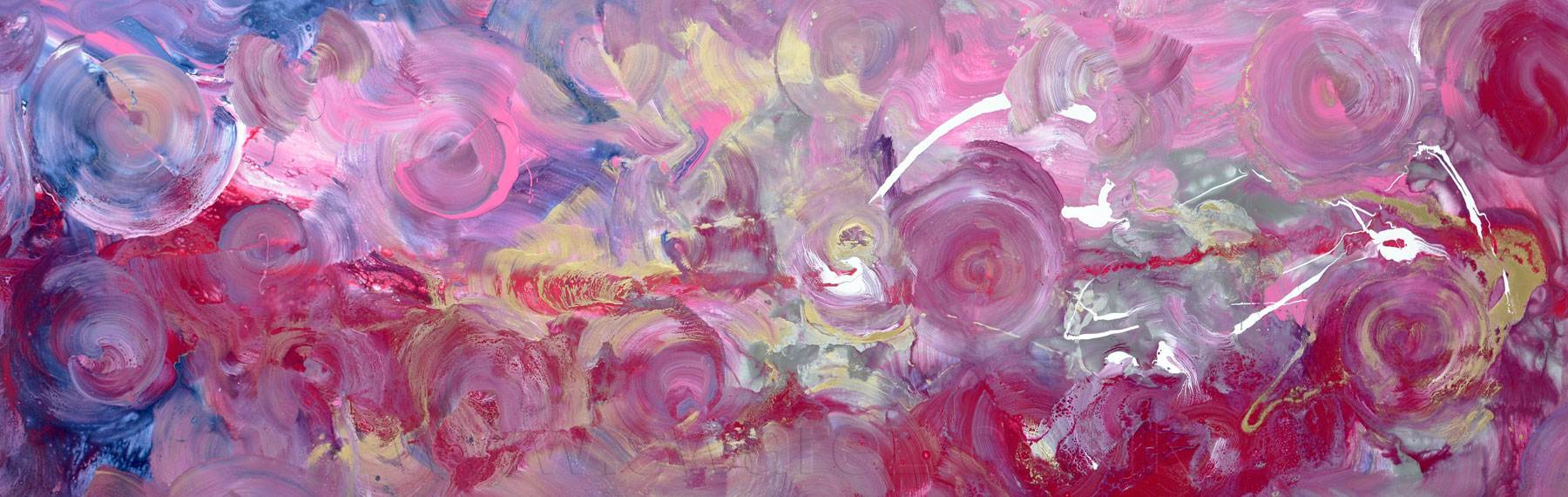Riotous Behaviour pink and gold art