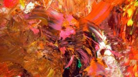 Pink and orange Fluorescent paintings