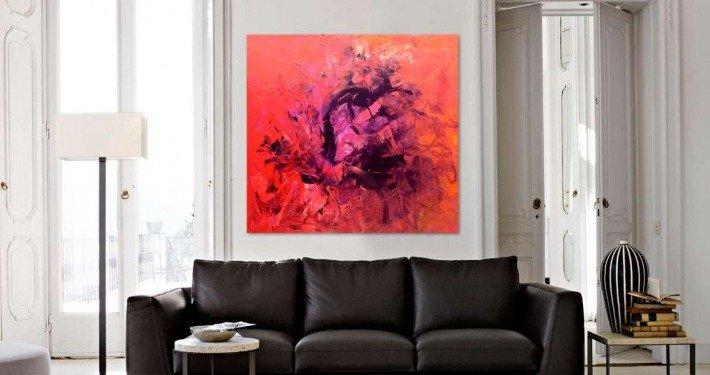 Square pink art