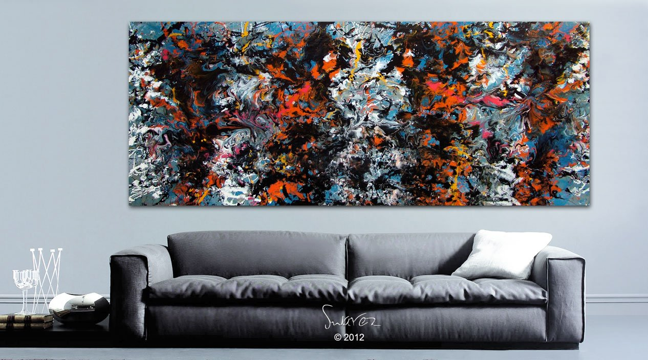 Skyfall large modern art painting | James Bond inspired