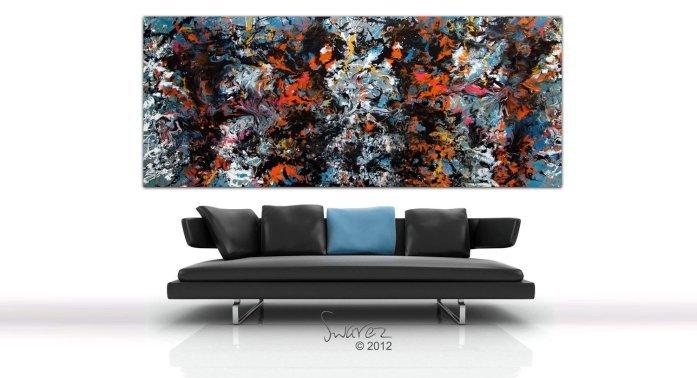 Skyfall arge modern art painting