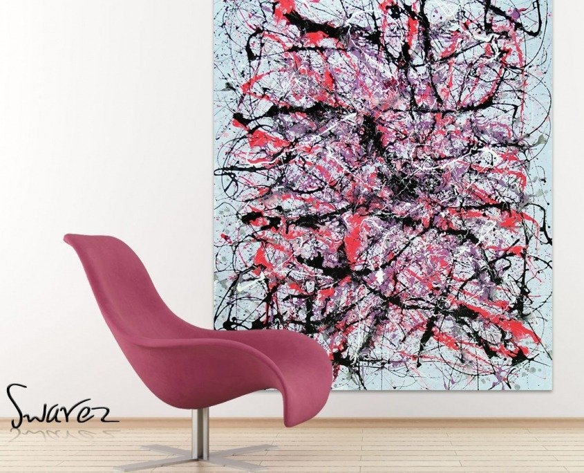 art and pink chair