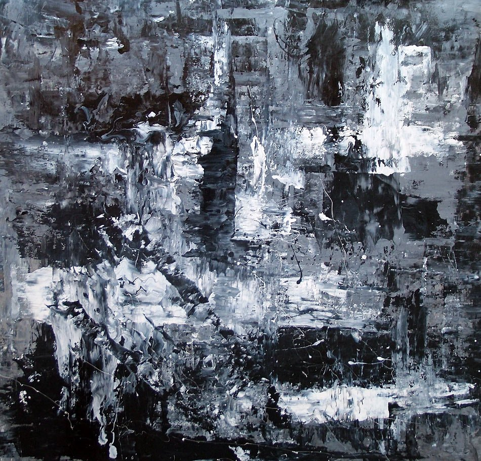 Art black and white canvas