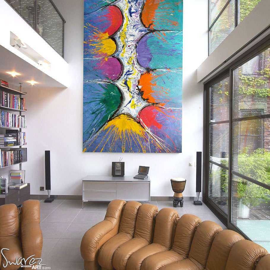 Big Canvas Art Modern Watercolor Abstract Ink Splash Big: Large Modern Art For Sale And Big Abstract Paintings By Swarez