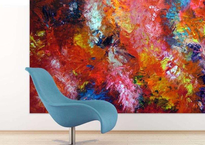 large red modern art