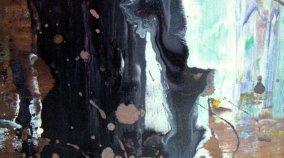 grape and black coloured art