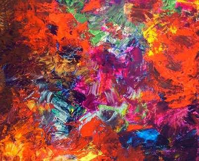 medium size acrylic painting