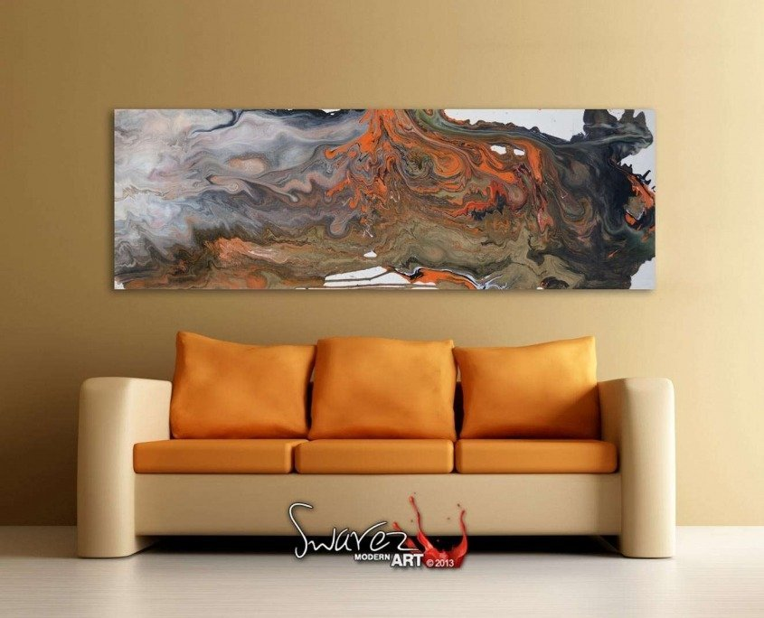 orange and black contemporary art
