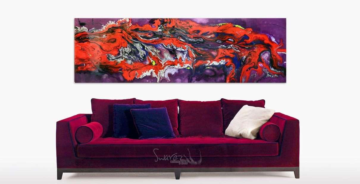 Art that looks like a big red dragon