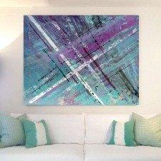Original art called Timeslides hanging in a Mallorca Villa