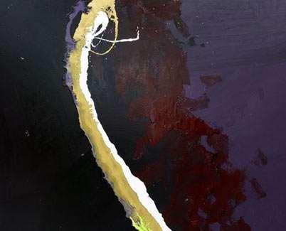 dark coloured abstract art