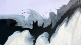 minimal black paint swoosh