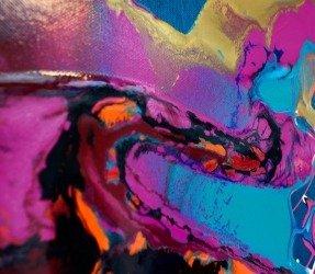 deep purple and blue paints