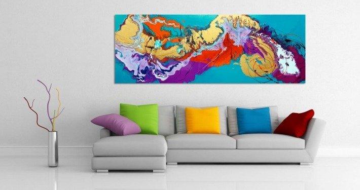 colourful cuchion covers on a sofa