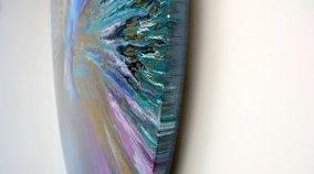 round canvas art side view