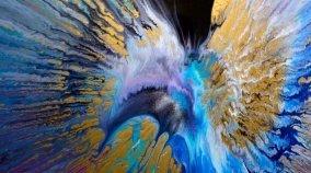 spin art like Damien Hirst