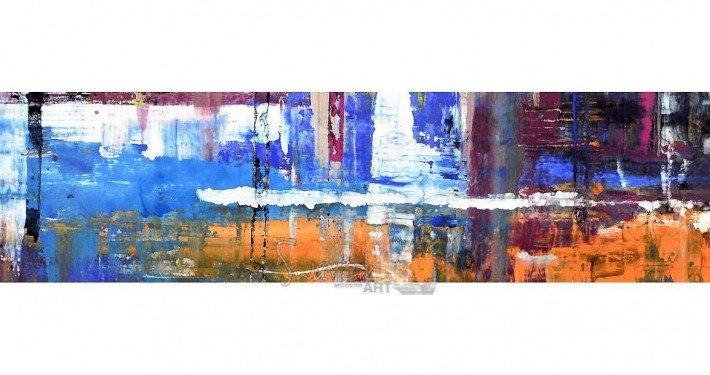 Orange and blue art