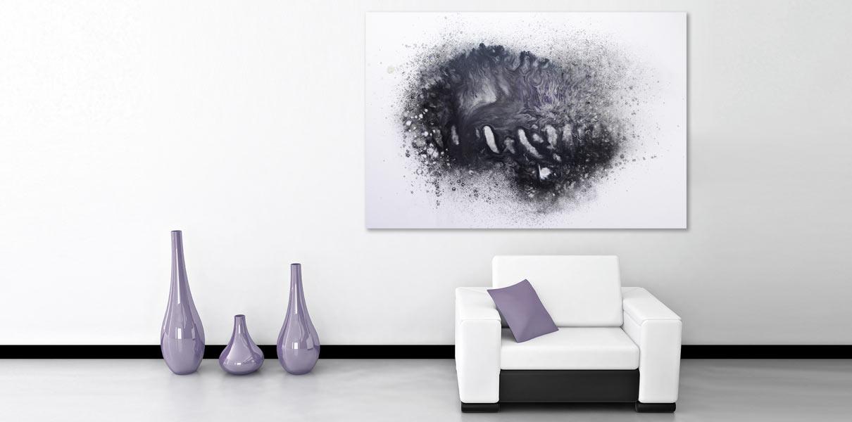 black and purple minimal art