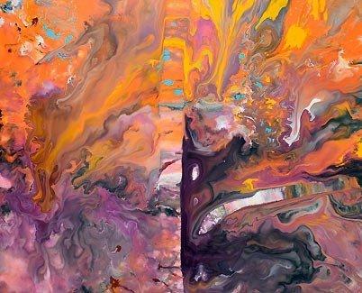 orange and purple art