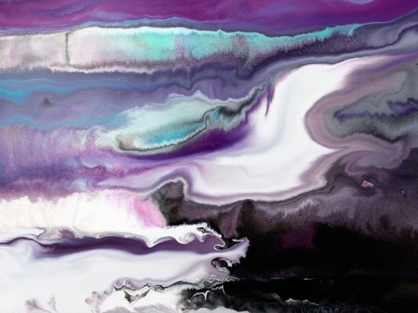 gorgeous purple and white swirls of paint