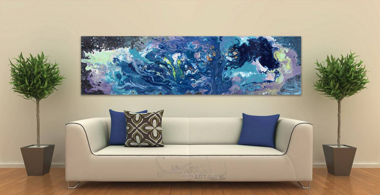 2 metre long art with shrubs in tubs at either end