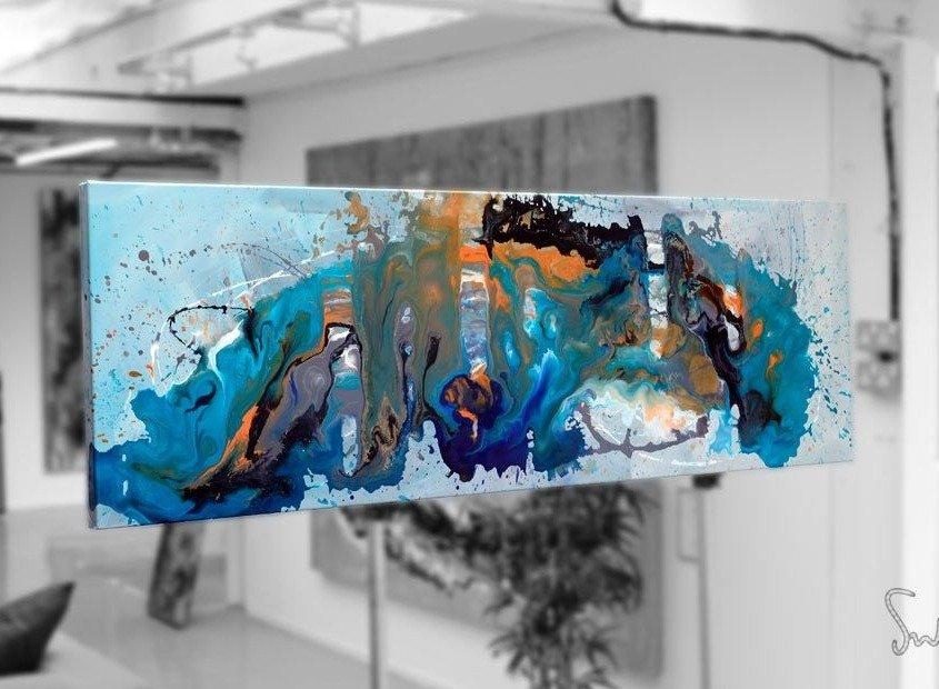 Marooned art sat in an artists studio