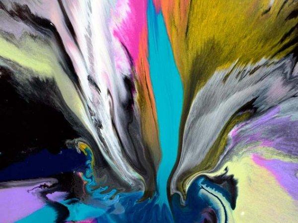 Multi-coloured rainbow coloured art