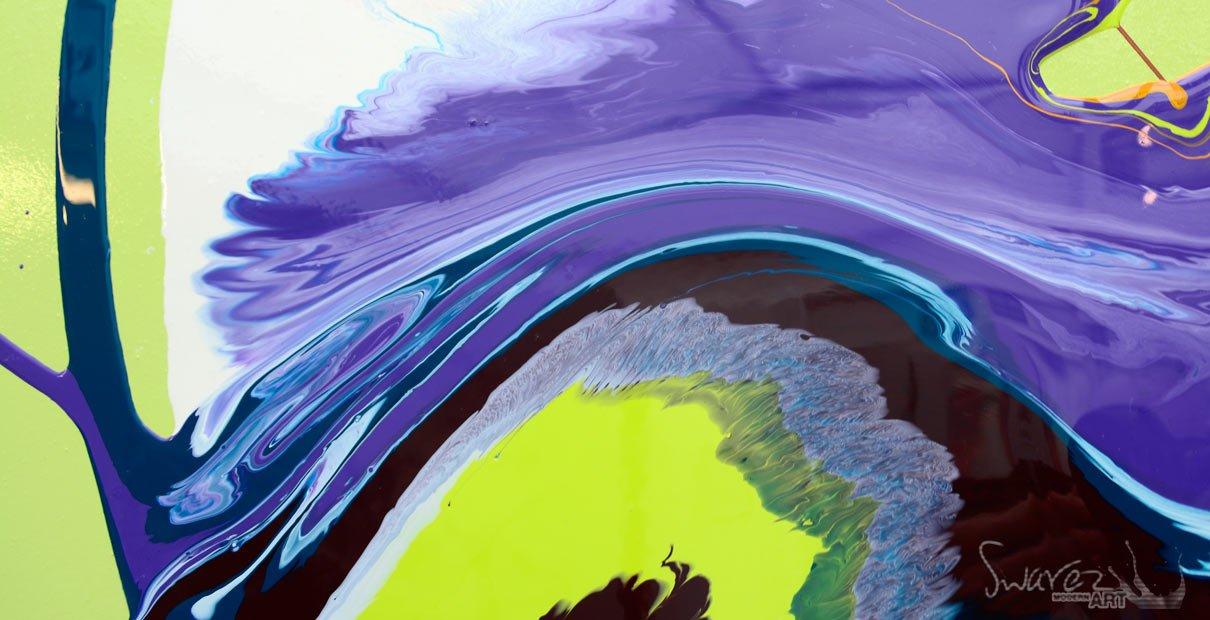 Swirling purple paint