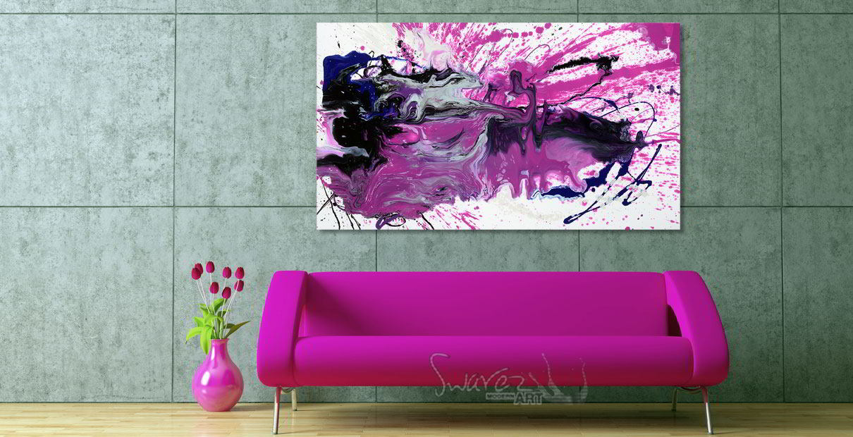 Crazy pink painting