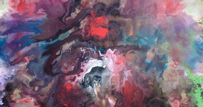 Large original painting April Sky
