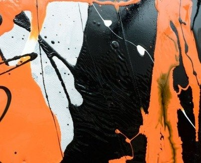 Orange and Black art
