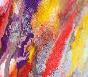 macro view of Collider Scope art painting by Swarez