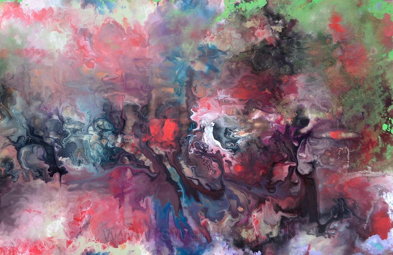 rain storm impressionist painting