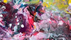 Close-up view of an original multi-coloured abstract painting (3)