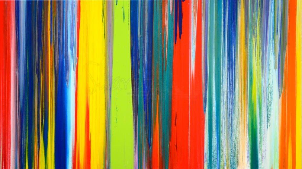 lines painting original multicoloured art striped
