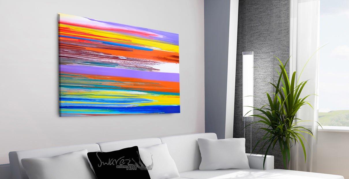 Multi coloured art
