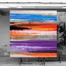 Purple and orange contemporary art
