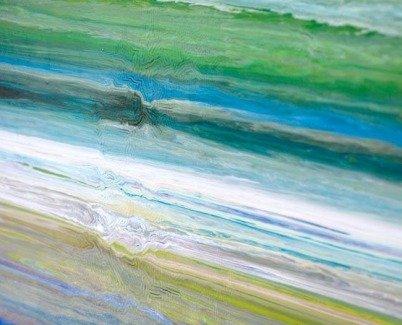 Blue green art